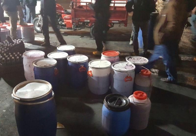 کارگاه ساخت مشروبات الکلی در گنبکی ریگان منهدم شد +تصاویر