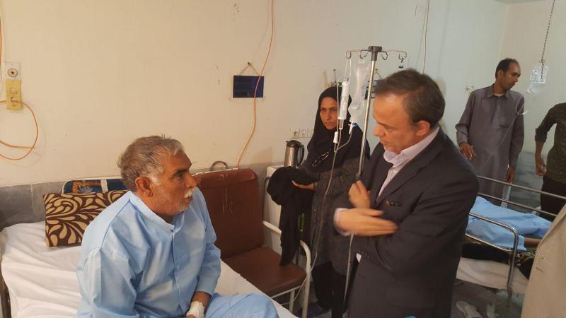 بازدید سرزده استاندار کرمان از بیمارستان ۱۱۰تختخوابی جیرفت