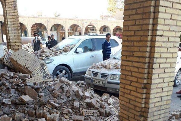 بخشی از دیوارهای اطراف میدان تاریخی ارگ کرمان فرو ریخت