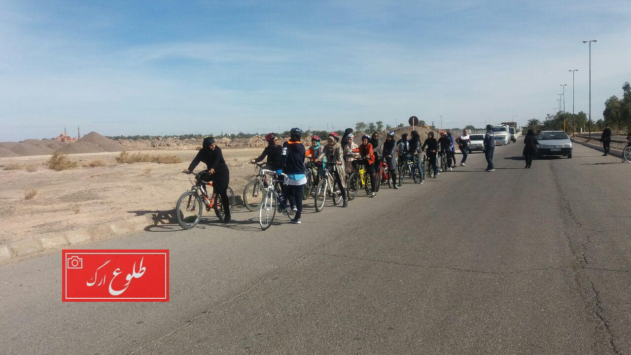 برگزاری همایش دوچرخه سواری عمومی بانوان در بم