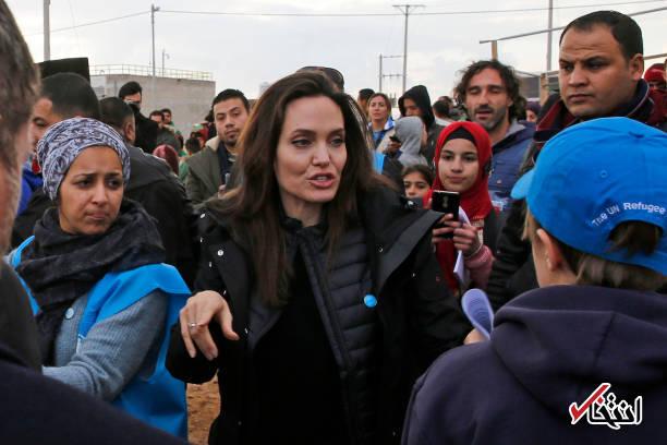 حضور آنجلینا جولی در میان آوارگان سوری