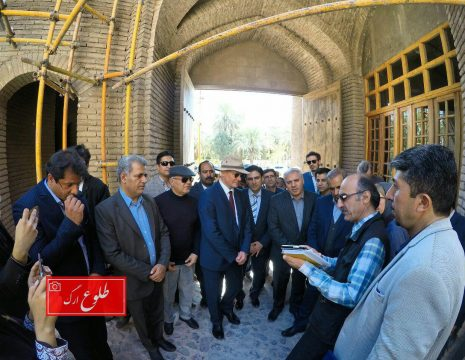<h5>گزارش تصویری بازدید سفیر آلمان از ارگ بم برای افتتاحیه خانه سیستانی ها</h5><br><div>عکس : طلوع ارگ - محمد حسین ... </div>