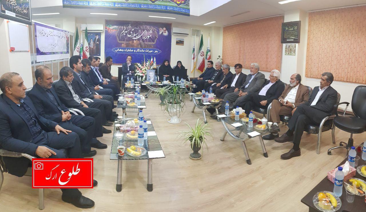 جلسه شورای شهر بم با حضور تعدادی از اعضای ادوار گذشته شورا برگزار شد