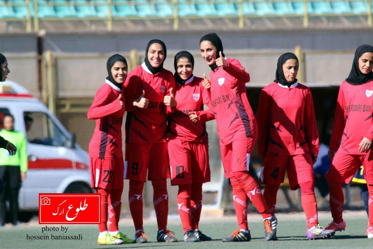 گزارش تصویری مسابقه فوتبال بانوان شهرداری بم در مقابل پالایش گاز ایلام