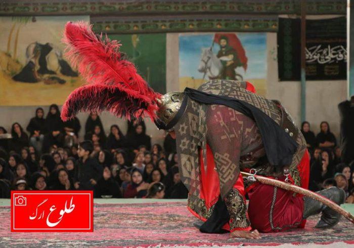 گزارش تصویری تعزیه خوانی و عزاداری روستای قصر در شهرستان نرماشیر
