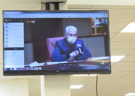 پروژه کتابخانه مرکزی مجتمع آموزش عالی بم به مناسبت هفته دولت به صورت ویدئو کنفرانس توسط وزیر علوم تحقیقات و فناوری جناب آقای دکتر غلامی افتتاح گردید