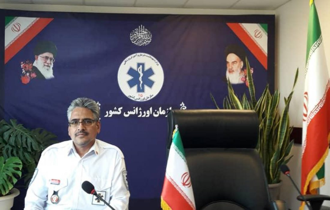 سپیدپوشان اورژانس بم ۲۹۶ بیمار کرونامثبت را به مراکز درمانی انتقال داده اند
